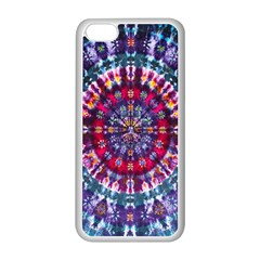 Red Purple Tie Dye Kaleidoscope Opaque Color Apple Iphone 5c Seamless Case (white)