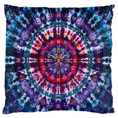 Red Purple Tie Dye Kaleidoscope Opaque Color Large Flano Cushion Case (One Side)