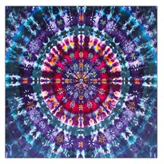 Red Purple Tie Dye Kaleidoscope Opaque Color Large Satin Scarf (Square)