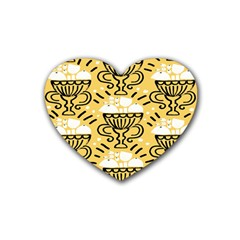 Trophy Beers Glass Drink Rubber Coaster (Heart)