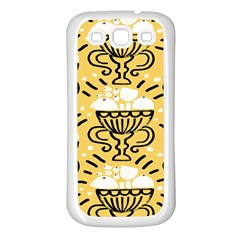 Trophy Beers Glass Drink Samsung Galaxy S3 Back Case (white)