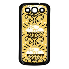 Trophy Beers Glass Drink Samsung Galaxy S3 Back Case (Black)