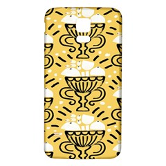 Trophy Beers Glass Drink Samsung Galaxy S5 Back Case (White)