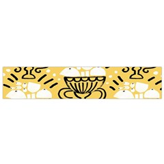 Trophy Beers Glass Drink Flano Scarf (Small)