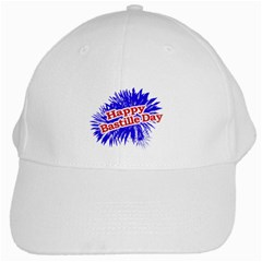 Happy Bastille Day Graphic Logo White Cap