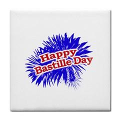 Happy Bastille Day Graphic Logo Tile Coasters