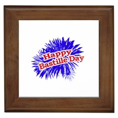 Happy Bastille Day Graphic Logo Framed Tiles