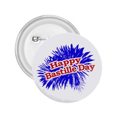 Happy Bastille Day Graphic Logo 2.25  Buttons