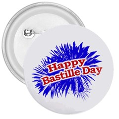 Happy Bastille Day Graphic Logo 3  Buttons