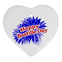 Happy Bastille Day Graphic Logo Ornament (Heart)