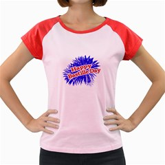 Happy Bastille Day Graphic Logo Women s Cap Sleeve T-Shirt