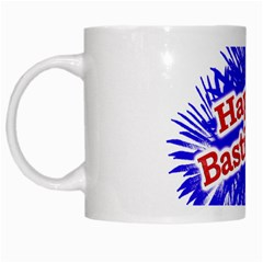 Happy Bastille Day Graphic Logo White Mugs