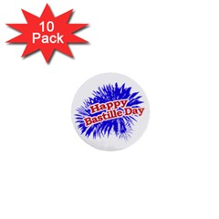 Happy Bastille Day Graphic Logo 1  Mini Buttons (10 pack)