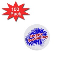 Happy Bastille Day Graphic Logo 1  Mini Buttons (100 pack)