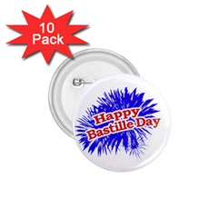 Happy Bastille Day Graphic Logo 1.75  Buttons (10 pack)
