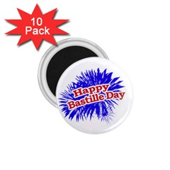 Happy Bastille Day Graphic Logo 1.75  Magnets (10 pack)