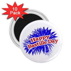 Happy Bastille Day Graphic Logo 2.25  Magnets (10 pack)