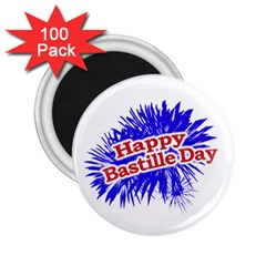 Happy Bastille Day Graphic Logo 2.25  Magnets (100 pack)