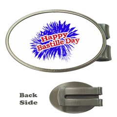 Happy Bastille Day Graphic Logo Money Clips (Oval)