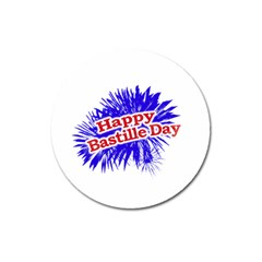 Happy Bastille Day Graphic Logo Magnet 3  (Round)