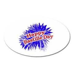 Happy Bastille Day Graphic Logo Oval Magnet