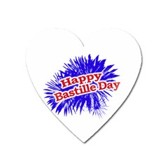 Happy Bastille Day Graphic Logo Heart Magnet