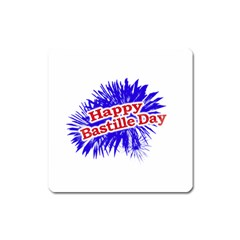 Happy Bastille Day Graphic Logo Square Magnet