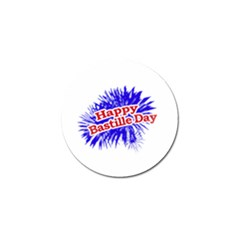 Happy Bastille Day Graphic Logo Golf Ball Marker (10 pack)