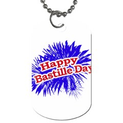Happy Bastille Day Graphic Logo Dog Tag (Two Sides)
