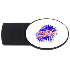 Happy Bastille Day Graphic Logo USB Flash Drive Oval (2 GB)