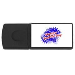 Happy Bastille Day Graphic Logo USB Flash Drive Rectangular (1 GB)
