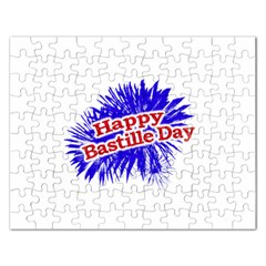 Happy Bastille Day Graphic Logo Rectangular Jigsaw Puzzl