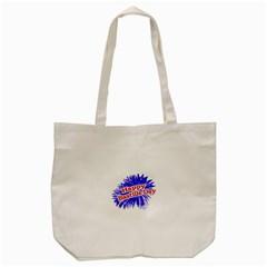 Happy Bastille Day Graphic Logo Tote Bag (Cream)