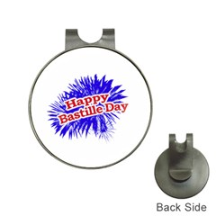 Happy Bastille Day Graphic Logo Hat Clips with Golf Markers
