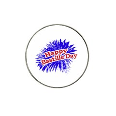 Happy Bastille Day Graphic Logo Hat Clip Ball Marker (4 pack)