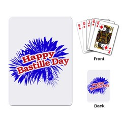 Happy Bastille Day Graphic Logo Playing Card