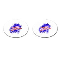 Happy Bastille Day Graphic Logo Cufflinks (Oval)