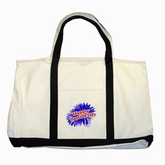 Happy Bastille Day Graphic Logo Two Tone Tote Bag