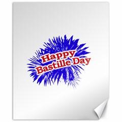 Happy Bastille Day Graphic Logo Canvas 16  x 20