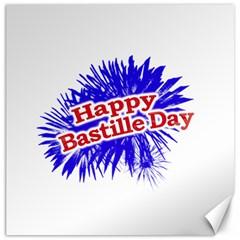 Happy Bastille Day Graphic Logo Canvas 20  x 20