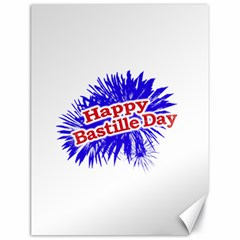 Happy Bastille Day Graphic Logo Canvas 18  x 24