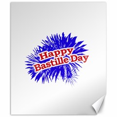Happy Bastille Day Graphic Logo Canvas 20  x 24