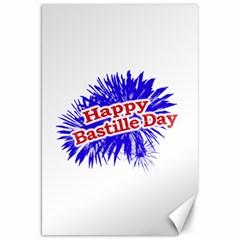 Happy Bastille Day Graphic Logo Canvas 20  x 30