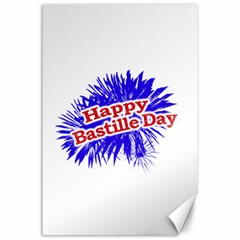 Happy Bastille Day Graphic Logo Canvas 24  x 36