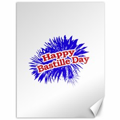Happy Bastille Day Graphic Logo Canvas 36  x 48