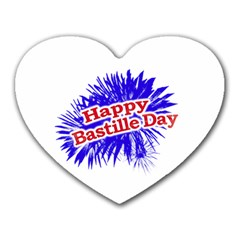 Happy Bastille Day Graphic Logo Heart Mousepads
