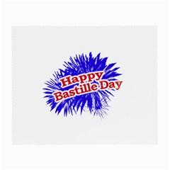 Happy Bastille Day Graphic Logo Small Glasses Cloth (2-Side)