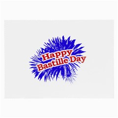 Happy Bastille Day Graphic Logo Large Glasses Cloth