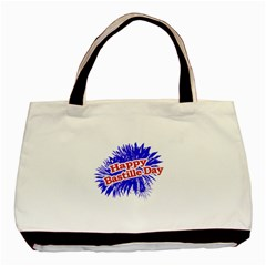 Happy Bastille Day Graphic Logo Basic Tote Bag (Two Sides)