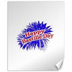 Happy Bastille Day Graphic Logo Canvas 11  x 14